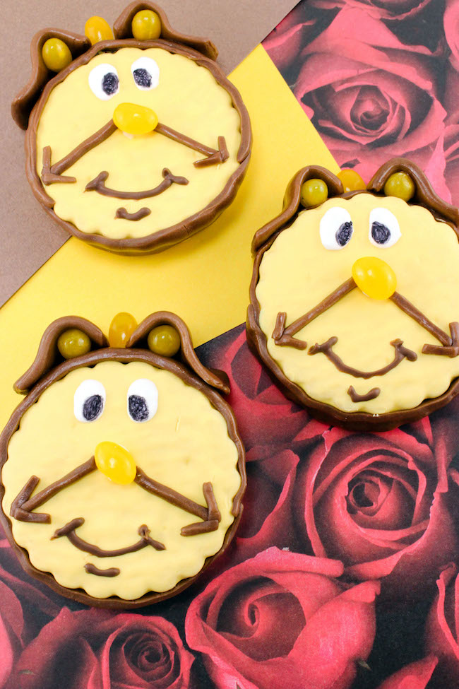 Cogsworth Marshmallow Pie Recipe is an easy recipe to create & the kids will love that it looks like him. Perfect for the Beauty & The Beast DVD release.
