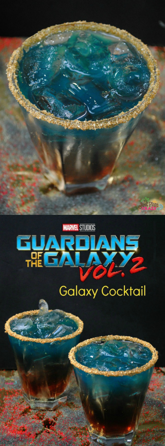 With Guardians of the Galaxy Vol. 2 in theaters this past weekend, I thought it fitting to make a Galaxy Cocktail recipe to celebrate.