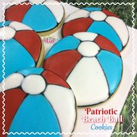 Patriotic Beach Ball Cookies
