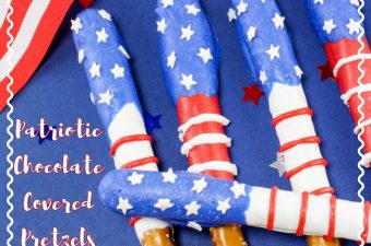 The red, white & blue Patriotic Chocolate Covered Pretzels Recipe is one that everyone will love and is easy to make & can be made for multiple holidays.