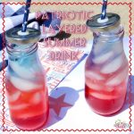 Patriotic Red, White and Blue Layered Summer Drink Recipe
