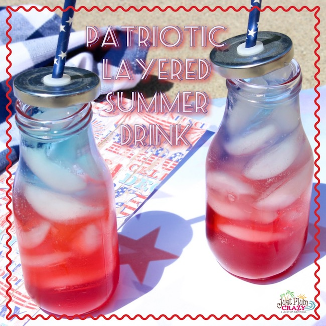 Red, White And Blue Layered Drink: A Refreshing