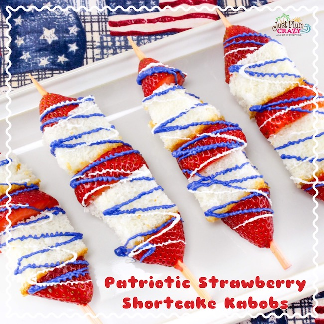 Another red, white & blue recipe with The Patriotic Strawberry Shortcake Kabobs Recipe is super easy and can be put together in just a couple of minutes.