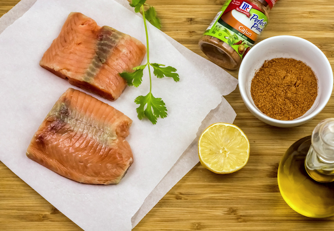 Air fryer salmon with cajun seasoning