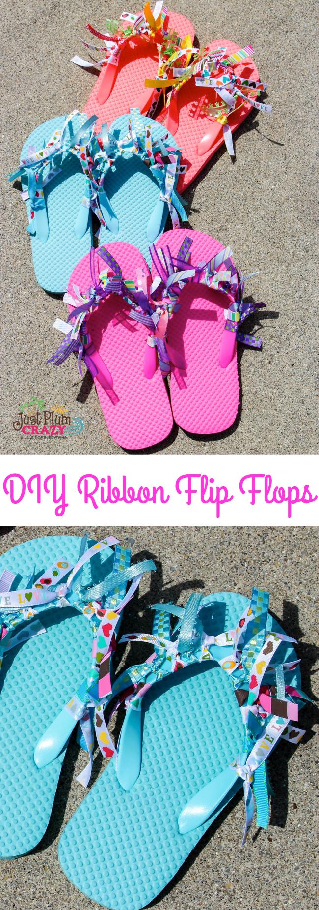 DIY Flip Flips with Ribbons