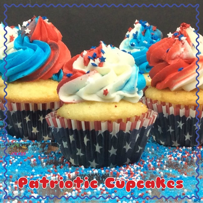 Red, white and blue patriotic cupcake recipe