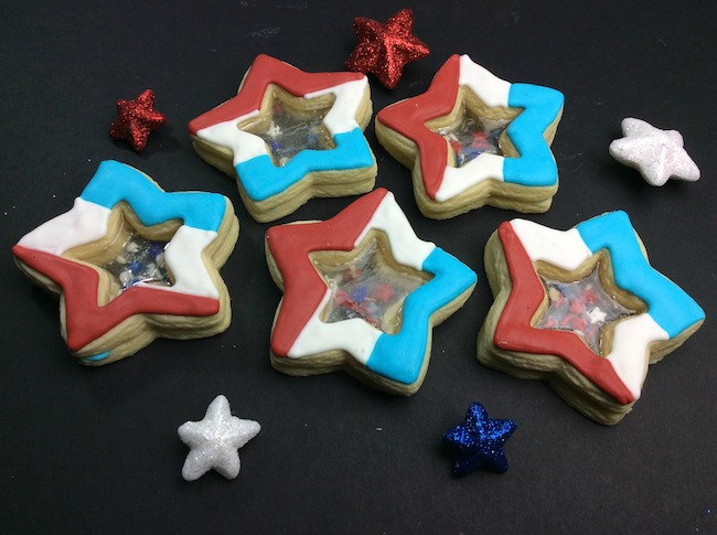 Stained glass star fireworks cookie recipe