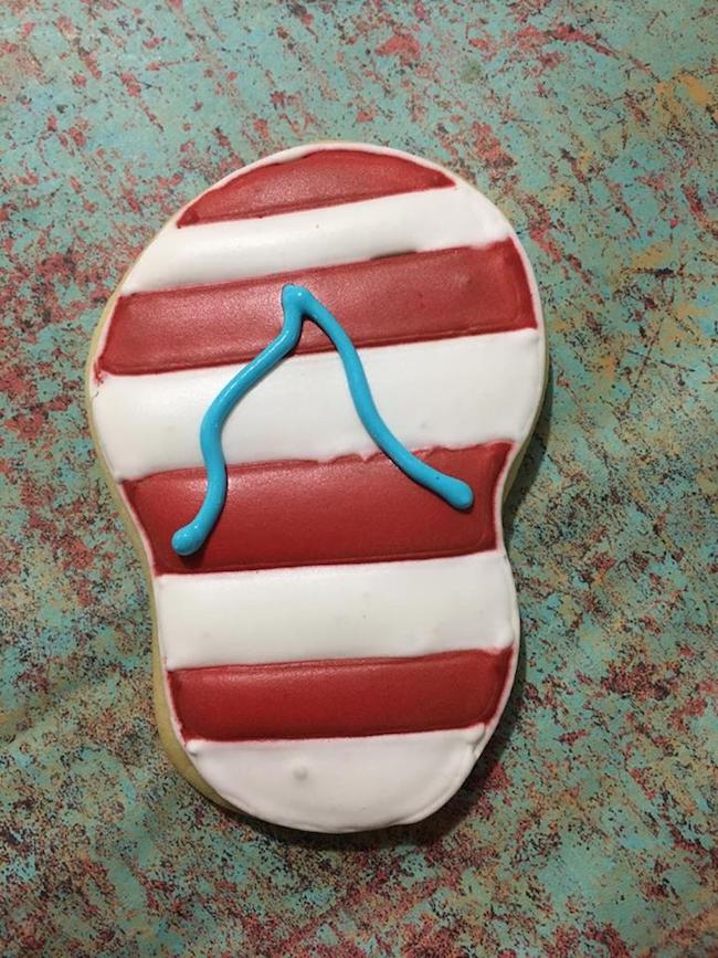 Flip flop cookie design