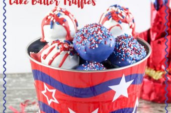The 4th of July is only a couple weeks away, so we will bombing you with a lot of Patriotic recipes like the Patriotic Funfetti Cake Batter Truffles recipe.
