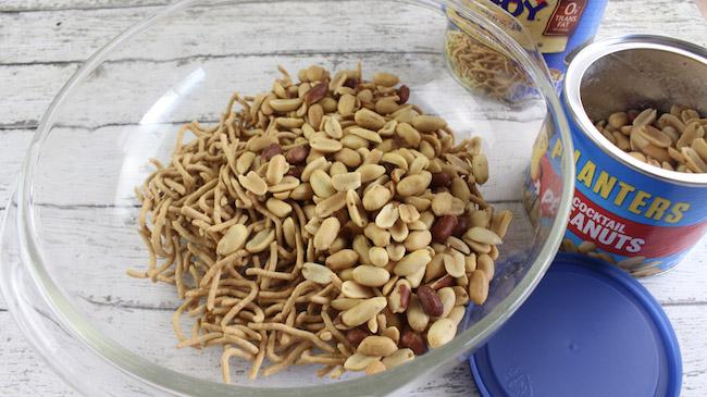 Haystack recipe mixing items