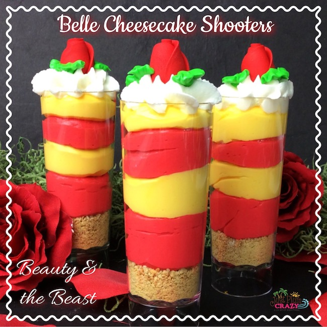 This Beauty & The Beast Belle Cheesecake Shooters Recipe is perfect for the viewing party when it comes out on Digital HD, DVD, Blu-ray and DMA on June 6th.