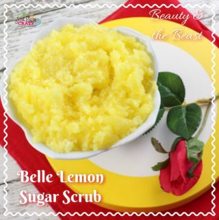 Since we are on a Beauty and The Beast recipe kick, A Beauty and The Beast Lemon Sugar Scrub will make you feel like Belle.