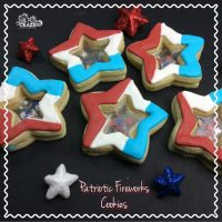 Stained Glass Patriotic Firework Cookie