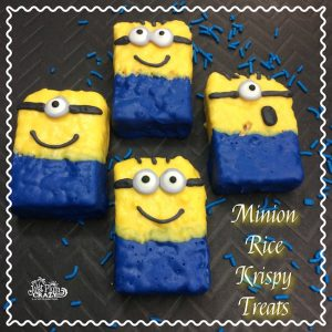 Here we have another Minion recipe with a Minion Rice Krispy Treats recipe. Who doesn't love the minions! I am looking forward to seeing Despicable Me 3.