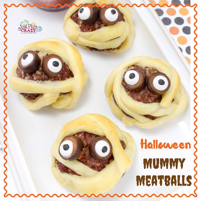 Who doesn't love a halloween Mummy Meatball recipe? The kids will go crazy over these and you won't because they are super easy to make.