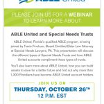ABLE United and Special Needs Trust Webinar #ad