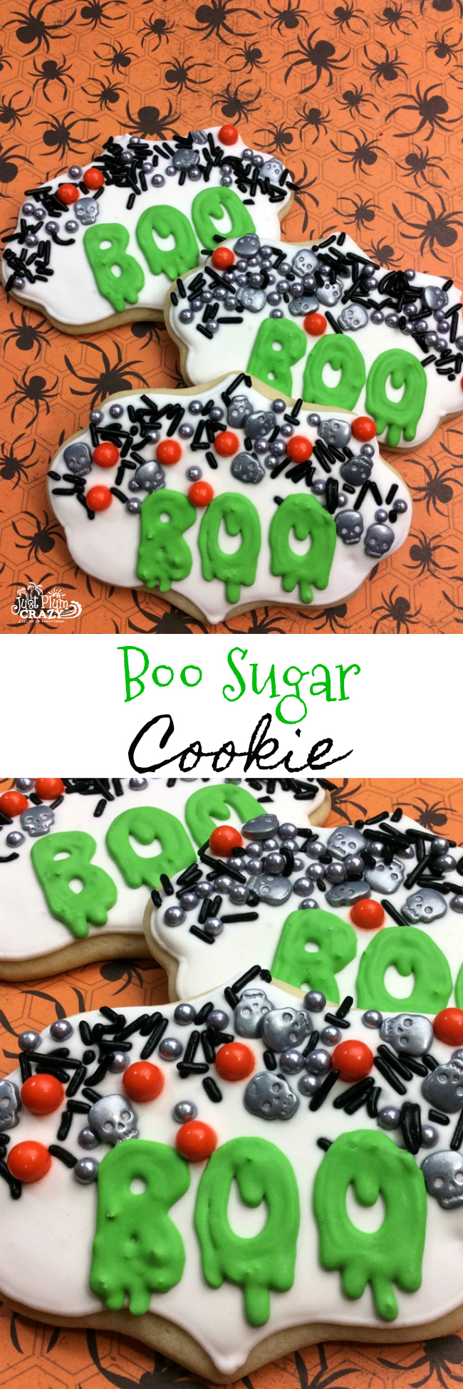These BOO Sugar Cookie Recipe is sure to scare the daylights out of anyone. There is nothing scary about these except for how scary good they are.