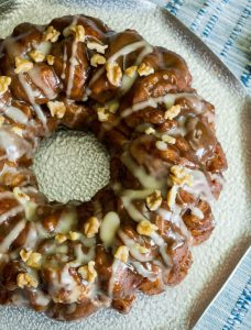 Pumpkin Pecan Bundt cake with pecans