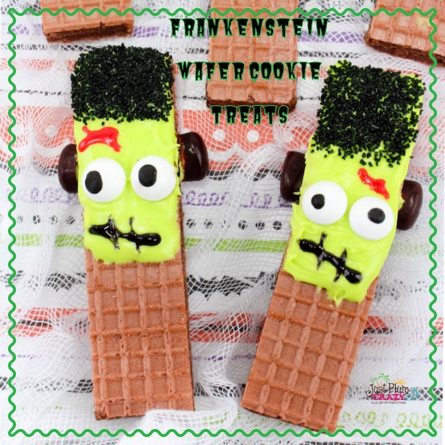 Halloween is next week and we will still have a few more desserts and recipes including our Frankenstein Wafer Cookie Treats recipe.