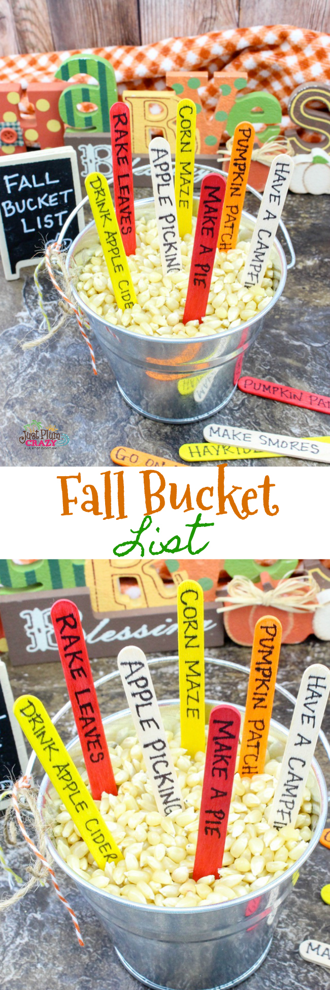 Fall bucket list craft to track activities.