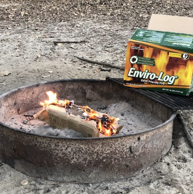 Whether you have a chimney, Chiminea, wood stove or a campfire, the Enviro-Log Fire Logs are the way to go and a safe and easy way to get your fire started.