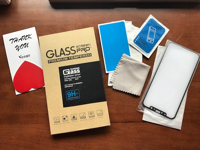 Since it's supposed to be made of glass front and back, the good thing is that the Glass Pro iPhone X screen protector is also made of glass.