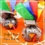 Stuffed Tissue Paper Turkey Craft