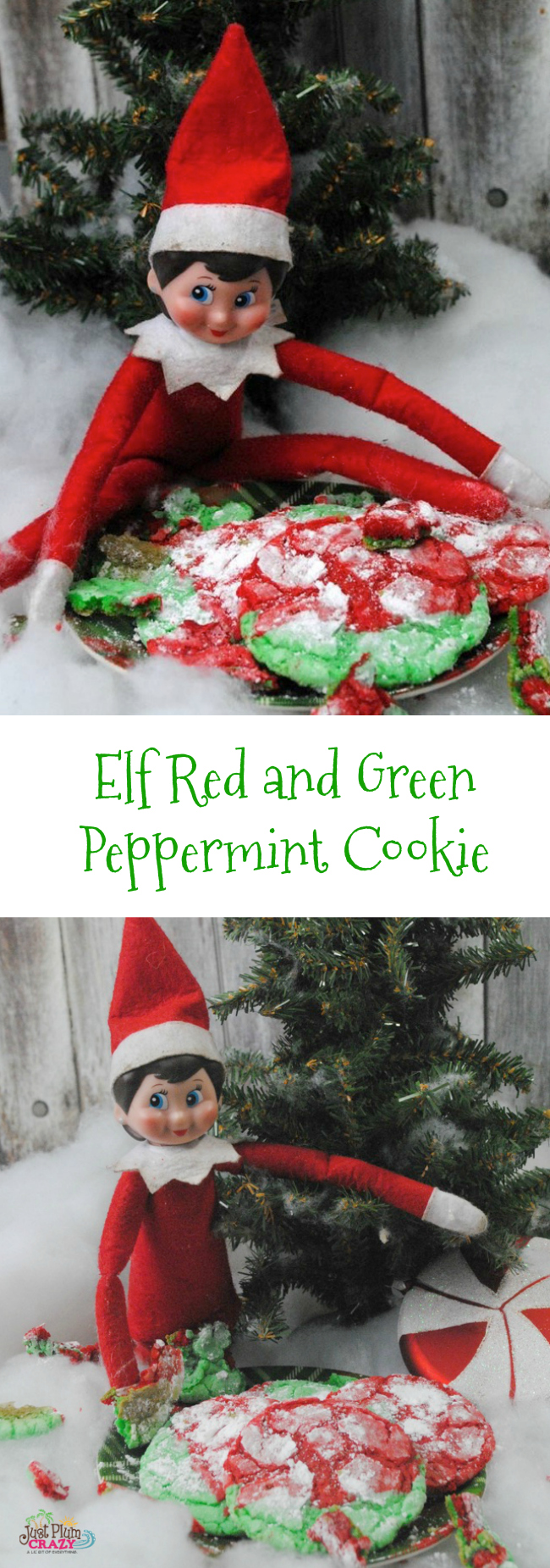 With Christmas being only a little over a week away, we are sharing some of our favorite Elf recipes with an Elf Red and Green Peppermint Cookie recipe.