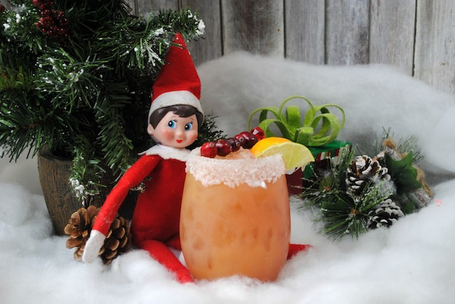 It's Elf on the Shelf week. We've already shared the Elf Frosty Cocktail recipe and now we have the Elf Cranberry Orange Margarita recipe. YUM!