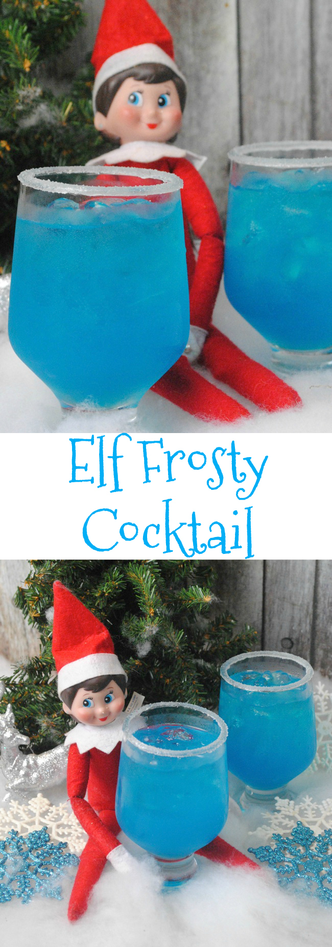 It's Elf on the Shelf time and maybe you might need a little pick me up to get you through the month. So we are sharing an Elf Frosty Cocktail Recipe.