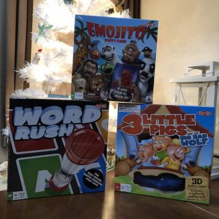 This year, we have three Tactic games under our tree, 3 Little Pigs, Word Rush, and Emojito which is why we have added them to our Holiday Gift Guide.