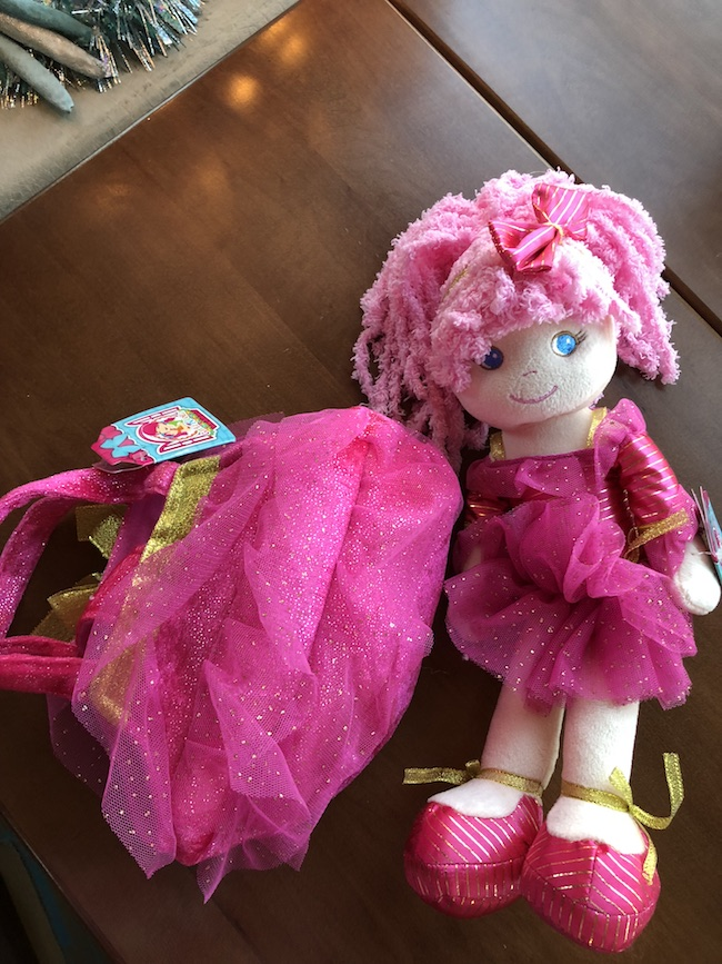 Girlz N Dollz Leila Sparkle Dancer Baby Doll is a plush baby doll that is like a rag doll dressed up in her recital dance outfit.