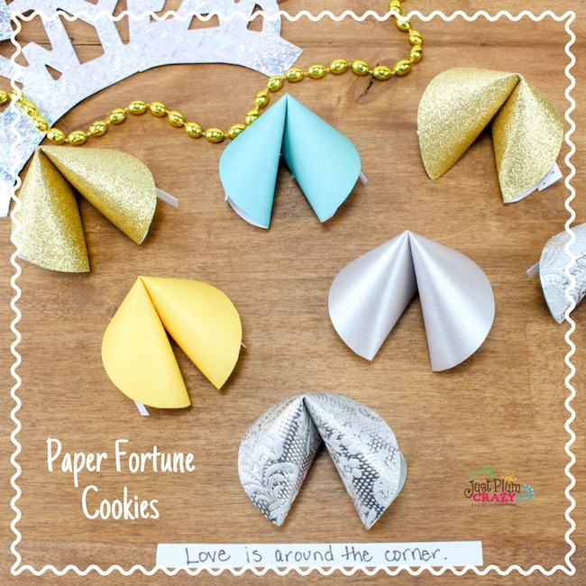 The Paper Fortune Cookies Craft is another fun party craft and favor for parents and kids to make for their New Year's Eve party celebration.