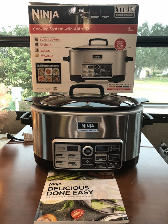 The Ninja Cooking System is a wonderful kitchen appliance to have. It combines slow-cooking, baking, roasting, and browning food all-in-one!