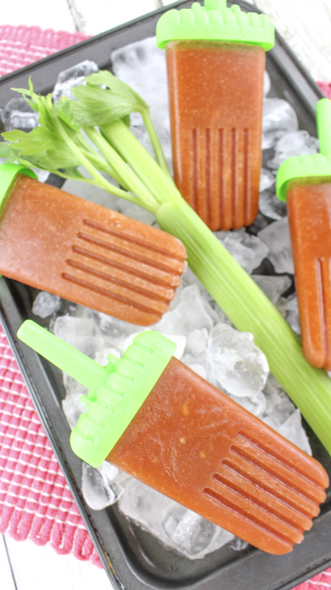 Seeing as today is National Bloody Mary Day, I thought it fitting to bring you a Boozy Bloody Mary Ice Pops recipe. If it's too cold where you are, you can always stay inside and eat them or save the recipe for summer.