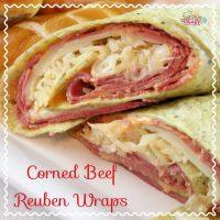Corned Beef Reuben Wrap