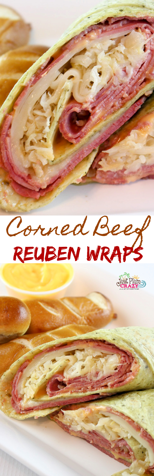 Corned Beef Sandwich Reuben Wrap