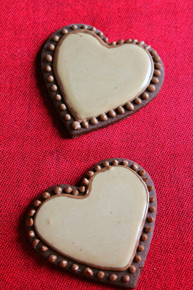 Coffee liqueur icing adds a unique flair to these adult Valentine's Day cookies. The rich flavor and classy appearance will be appreciated – and so will your efforts with these Kahlua Mocha Heart Cookies recipe.