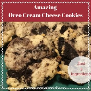Hopefully you have been enjoying the 14 days of Valentine's Treats. Today we are sharing today some Amazing Oreo Cheesecake Cookies. These cookies have only 5 ingredients in them and are full of flavor.