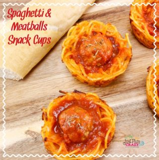Earlier today we shared a cold Pizza Pasta Salad recipe and now have Spaghetti and Meatball Snack Cups recipe that is perfect for the kids after school or when you're in a hurry.