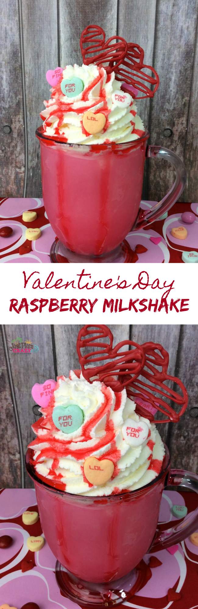 Raspberry Milkshakre Recipe - Perfect for Valentine's Day