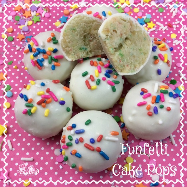 Funfetti has to be the best cake flavor ever when it comes to fun flavors. You can't help but smile at the sight of the colorful sprinkles. It's an instant throwback to your childhood with the Funfetti Cake Pops recipe.