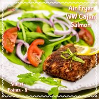 Air Fryer Salmon - Cajun Style