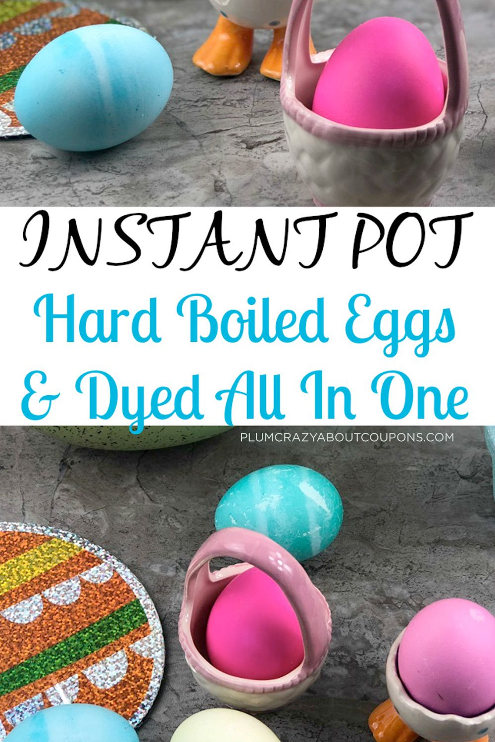 Colored Easter Eggs in Instant Pot