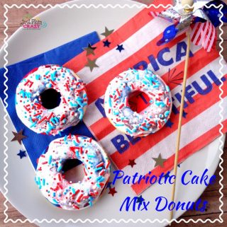 Another one of family favorite recipes that not only tastes good but is easily made with a cake mix. The4th of July Cake Mix Donuts Recipe is fun and perfect for any patriotic party including picnics.