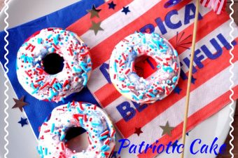 Another one of family favorite recipes that not only tastes good but is easily made with a cake mix. The 4th of July Cake Mix Donuts Recipe is fun and perfect for any patriotic party including picnics.