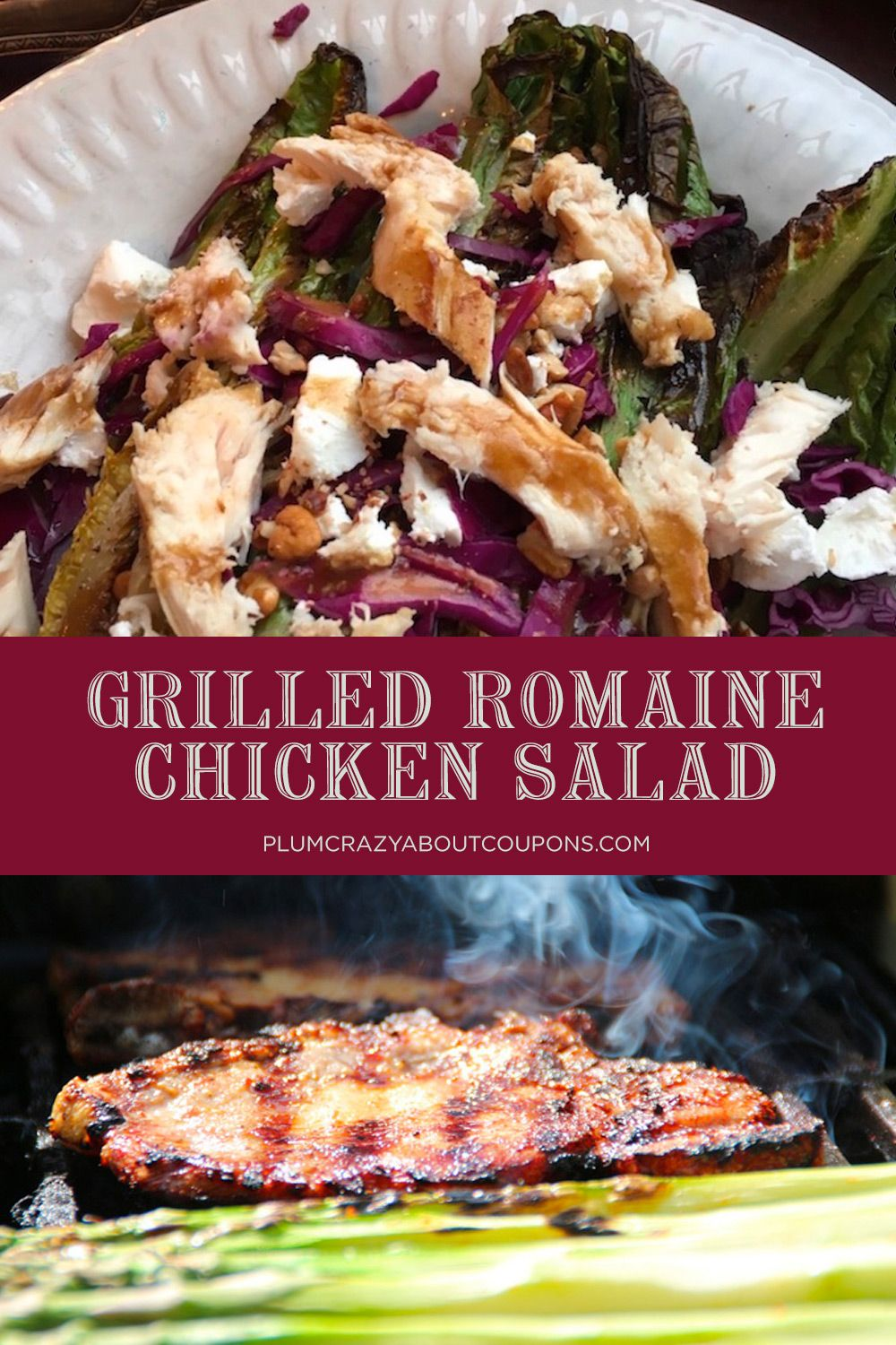 Chicken Salad on Grilled Romaine