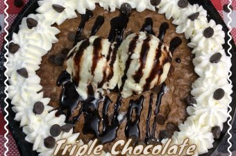 At home or camping, the Cast Iron Skillet Triple Chocolate Hot Fudge Brownie Recipe is a recipe that you can use no matter where you are.