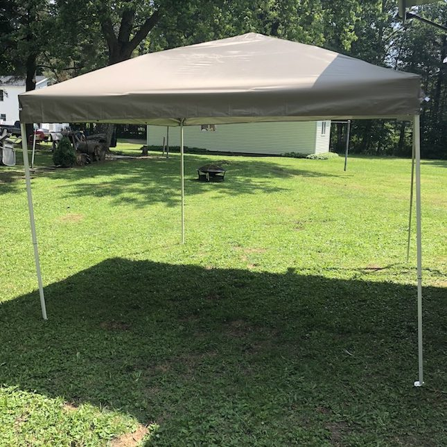The Pop Up Instant Patio Canopy will shield and protect you and your loved ones from the sun's UV rays, is easy to set up and stores in it's bag.