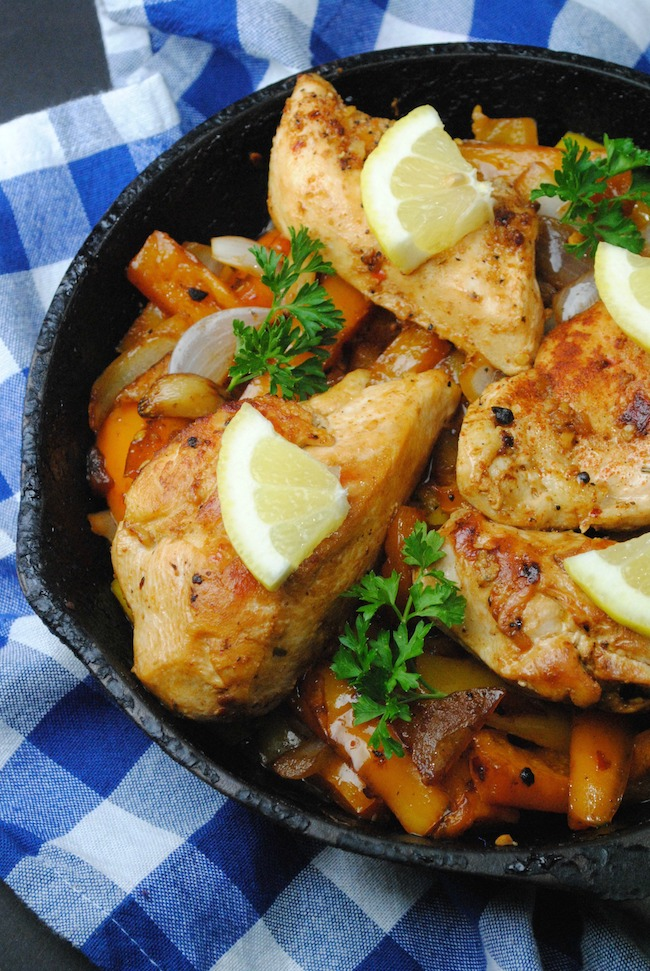 One Skillet Lemon Chicken Recipe